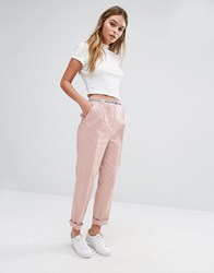Oasis Belted Peg Trousers Pink