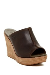 Timberland Danforth Wedge Mule Wide Width Available Green