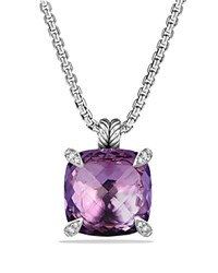 David Yurman Chatelaine Pendant With Amethyst And Diamonds Purple Silver