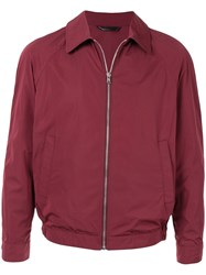 Gieves And Hawkes Zipped Bomber Jacket Red