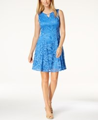 Jm Collection Petite Lace A Line Dress Beach Blue