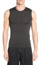 Men's Craft Seamless Base Layer Performance Tank Black