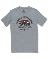 Element Men's Vista Cotton Graphic Print T Shirt Grey