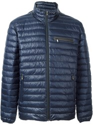 Closed Zip Pocket Padded Jacket Blue