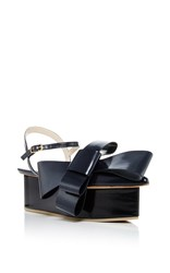 Delpozo Bow Platform Sandals Navy
