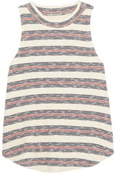 Madewell Dries Striped Ribbed Cotton Blend Tank Blue