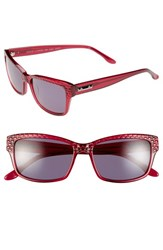 Women's Bcbgmaxazria 'Risky' 54Mm Sunglasses Berry