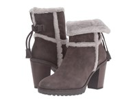 Frye Jen Shearling Short Smoke Water Resistant Suede Shearling Women's Dress Pull On Boots Taupe