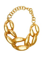 J.W.Anderson Jw Anderson Oversized And Irregular Chain Choker Gold