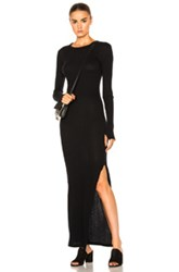 Enza Costa Long Sleeve Maxi Dress In Black