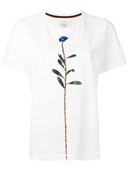 Paul Smith Flower Print T Shirt Women Cotton M White
