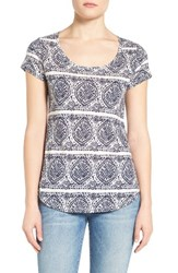 Lucky Brand Women's Print Scoop Neck Tee