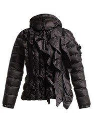 4 Moncler Simone Rocha Darcy Ruffled Quilted Jacket Black