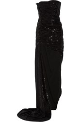 Balmain Asymmetric Sequined Gown
