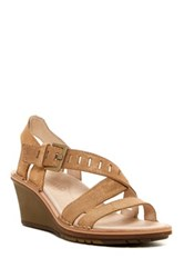 Merrell Sirah Lattice Wedge Sandal Beige