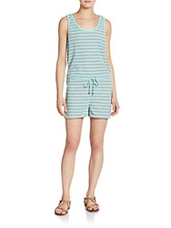 Saks Fifth Avenue Red Striped Drawstring Romper