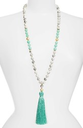Love's Affect Women's Elle Semiprecious Stone Tassel Necklace Turquoise