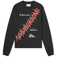 Nasaseasons Long Sleeve American Story Print Tee Black