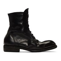 Guidi Black Classic Lace Up Boots