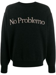Aries Brand Script Jumper Black