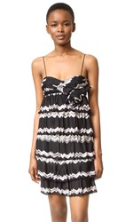 Wgaca Missoni Zigzag Dress Previously Owned Black Pink