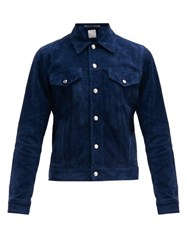 Paul Smith Western Style Suede Jacket Blue