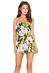 Lucca Couture Tropical Romper Navy