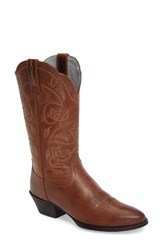 Ariat Women's Heritage Western R Toe Boot Russet Rebel Leather