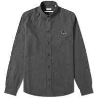 Kenzo Button Down Twill Oxford Shirt Grey