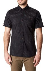 7 Diamonds 'S Reverse Dot Print Woven Shirt Black