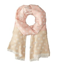 Betsey Johnson Jeweled Dots Blanket Wrap Blush Scarves Pink