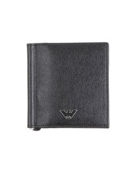 Emporio Armani Small Leather Goods Document Holders Men Black