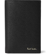Paul Smith Colour Block Textured Leather Bifold Cardholder Black