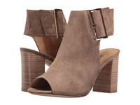 Vaneli Bisa Truffle Suede Gold Buckle High Heels Brown