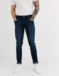 Ben Sherman Mid Dark Wash Slim Fit Jeans Blue