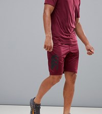 Canterbury Of New Zealand Vapodri Stretch Knit Shorts In Burgundy Exclusive To Asos Red