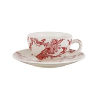 Gien Delices Des 4 Saisons Cup And Saucer Set Of 2