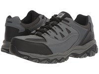 Skechers Holdredge Gray Action Leather Trim Men's Shoes
