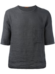 Barena Chest Pocket Boxy T Shirt Grey
