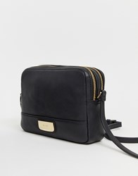 Paul Costelloe Real Leather Cross Body Bag Black