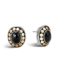 John Hardy Sterling Silver And 18K Bonded Gold Dot Earrings With Black Onyx 100 Bloomingdale's Exclusive Black Gold