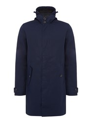 Lyle And Scott Hooded Trench Coat Navy
