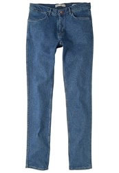 Mango Patrick Slim Fit Jeans Ink Blue Dark Blue Denim