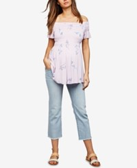 A Pea In The Pod Maternity Cropped Straight Leg Jeans Light Wash