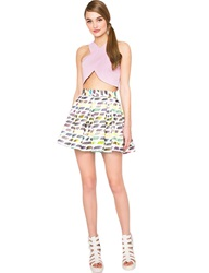 Pixie Market Painterly Skater Skirt