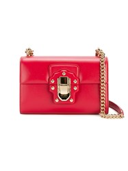 Dolce And Gabbana Lucia Small Satchel Red