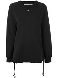 Off White Logo Print Jumper Women Cotton Xs Black