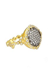 Freida Rothman Women's 'Mercer' Pave Disc Ring