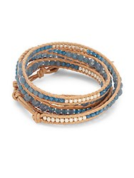 Chan Luu Blue Mirage And Sterling Silver Bracelet
