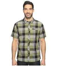 Smartwool Summit County Retro Plaid Light Loden Men's Short Sleeve Button Up Olive
